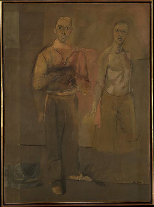 Williem de Kooning's Two Standing Men
