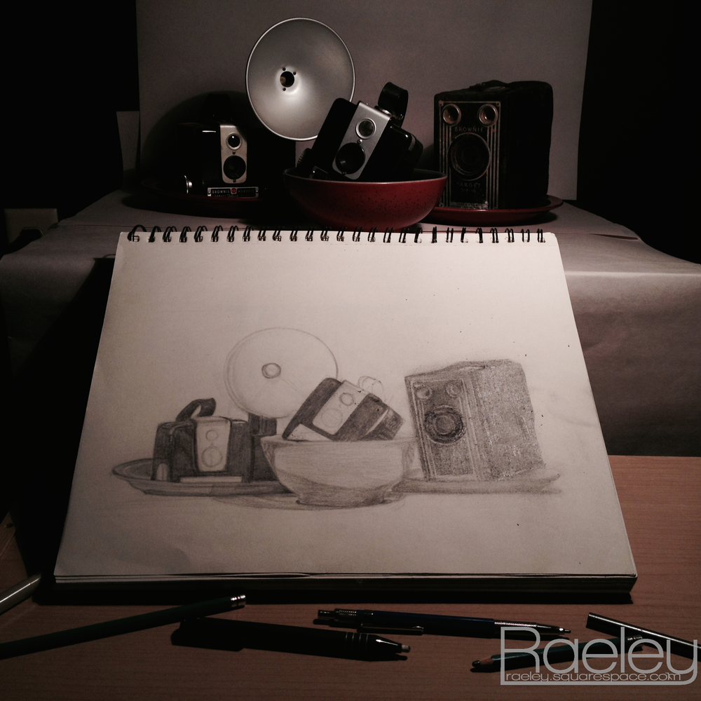 Do realize that this is a very unfinished work and that the still life looks much different in person.