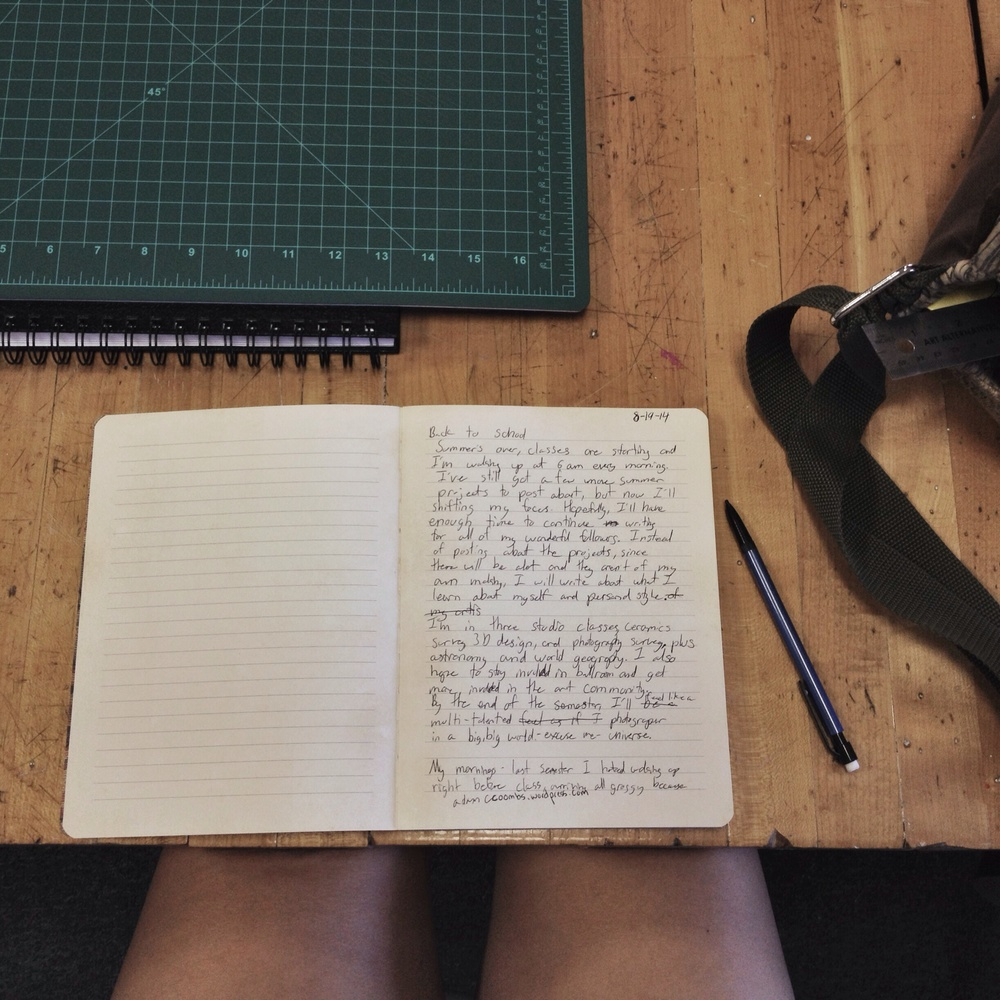 I started using a journal to draft my posts, this way I can write whenever I have a break.