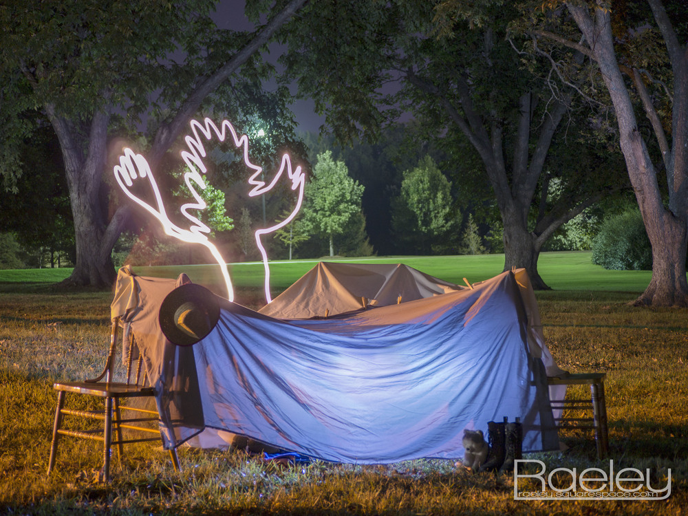"""Tent of Safety""                            The final product. Taken with a 30 second exposure at f 4.5 iso 160, edited in Photoshop."