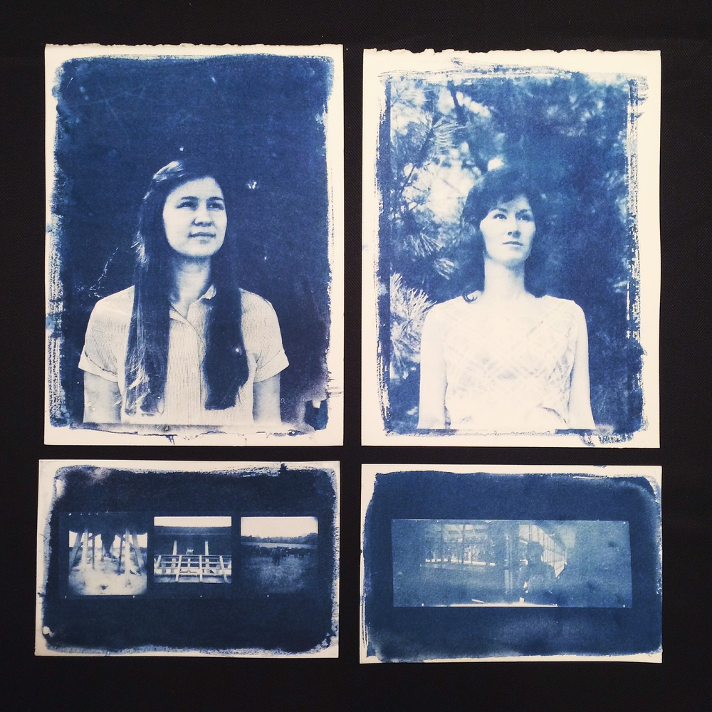 Cyanotypes for class