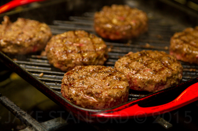 Sirloin Patties grilled and ready to be topped with cheese