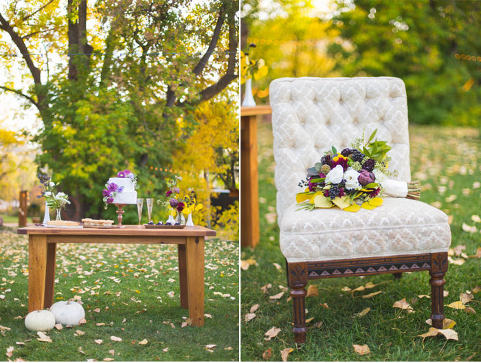 A Paper Proposal - Mustard and Plum Fall Styled Shoot