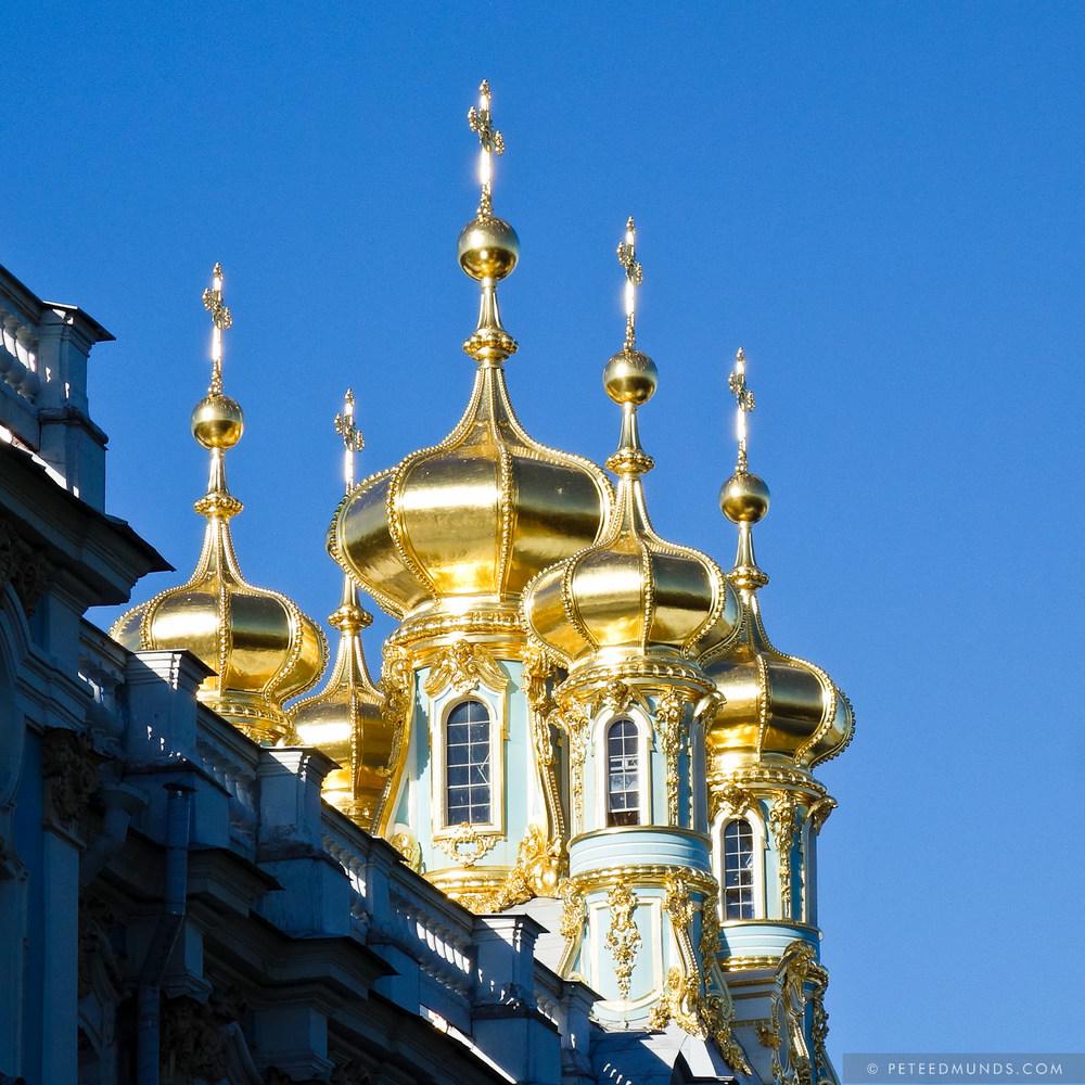 Catherine Palace Spires - Pushkin - Russia