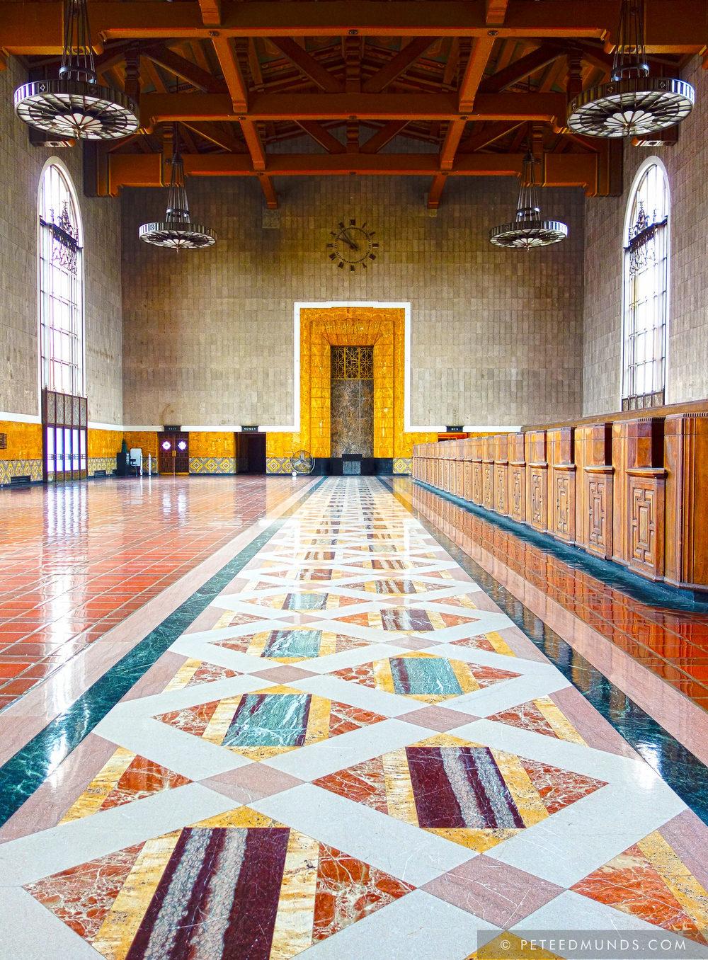 Old Ticketing Hall - Union Station - LA   HDR