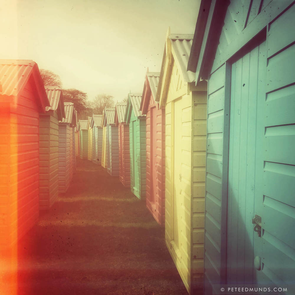 Beach Huts 01B - Retro
