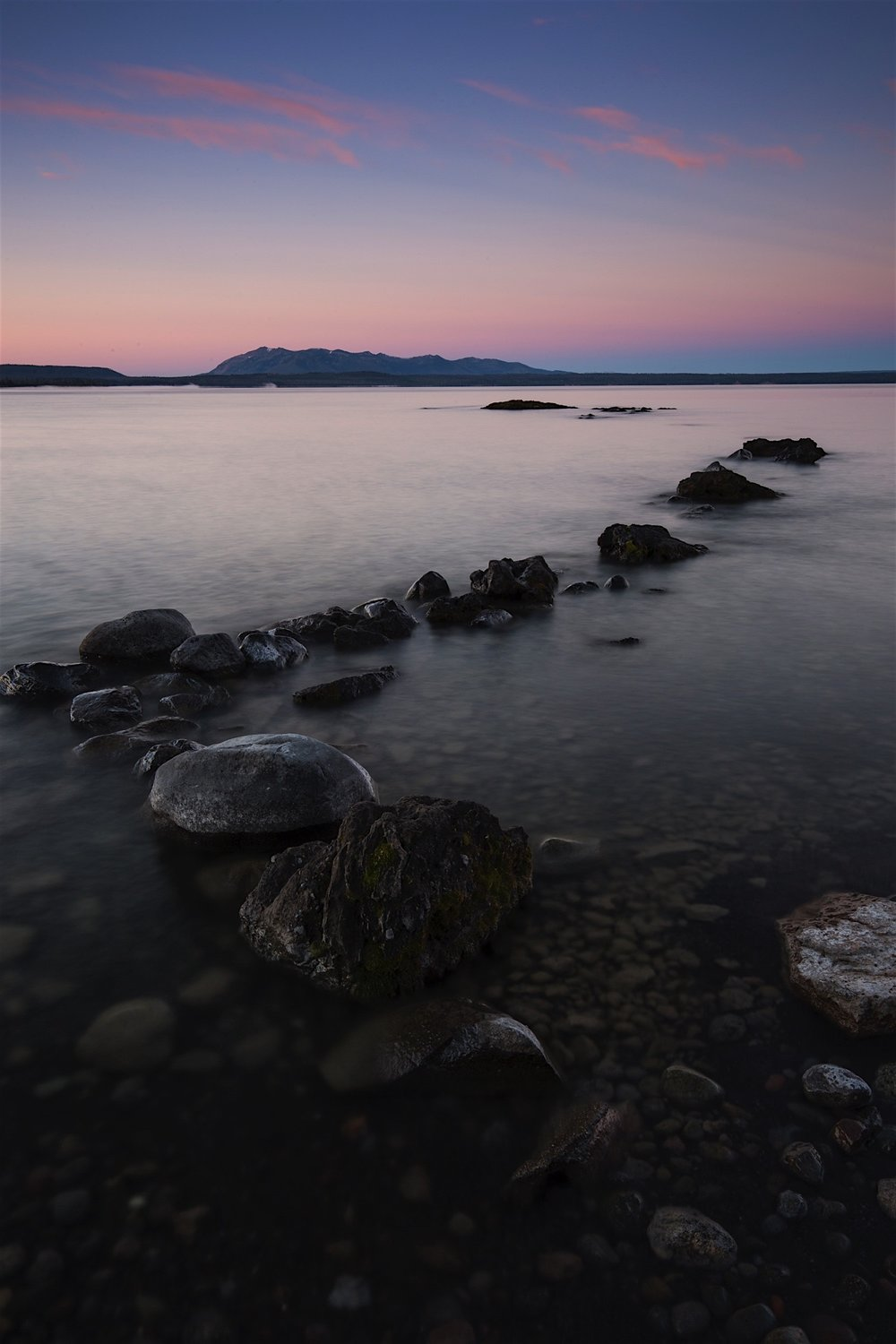Yellowstone Lake at Dawn from Pumice Point