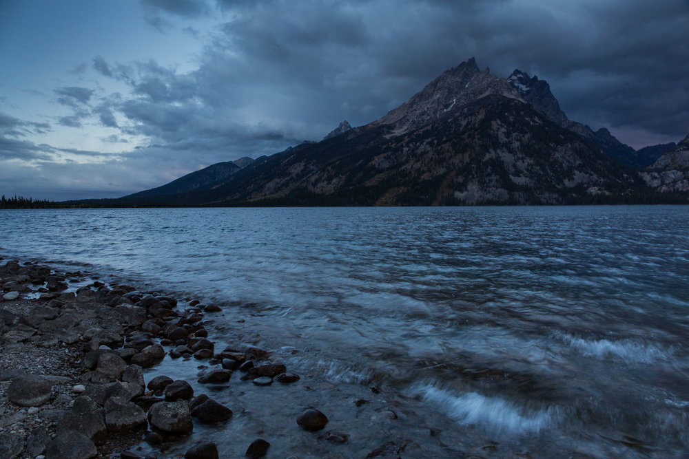 Dramatic sunrise at Jenny Lake