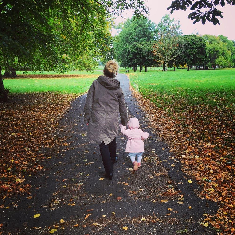 First Autumn London stroll with Grandma