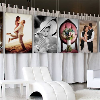 Beautiful canvas banners with a warm textured finish.
