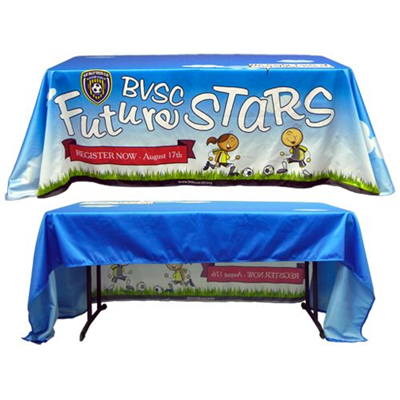 Our unique Table Covers offer a great way to display brands, logos, and messages at conventions, meetings, job fairs, and expositions.
