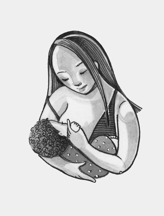 Murray_Graceful_Breastfeeding_B&W.jpg