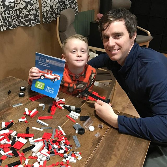Birthday presents aren't always this cool! Sometimes we have to settle for some cheaply made toys from town...but when you just came back from furlough and can bring Walmart's Sam Walton's truck legos...that's pretty cool!