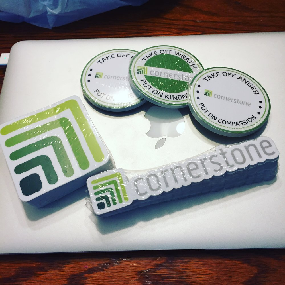 We give away free coffee on the ISU Quad in the Fall. - Stop by and pick up a Cornerstone Sticker.
