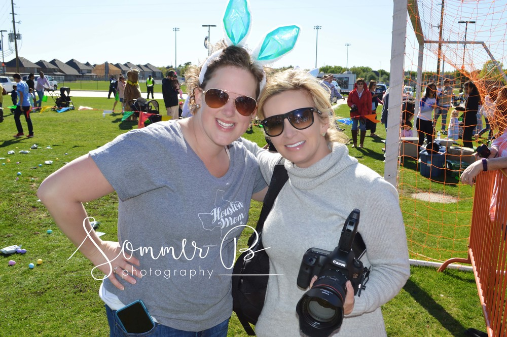 Sommer and Kelly Davis, Founder of the Houston Moms Blog, Inaugural Eggstravaganza Event, March 20th, 2016
