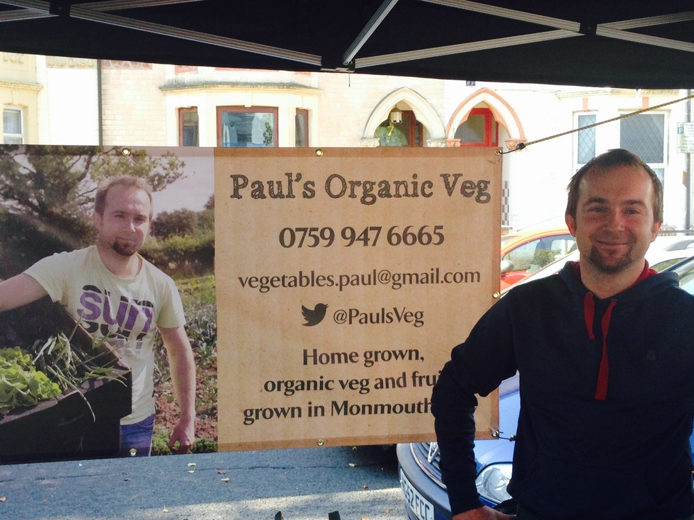 Paul at Sunday's Farmer's Market (Riverside Community Market Assoc.) by the Millennium Stadium