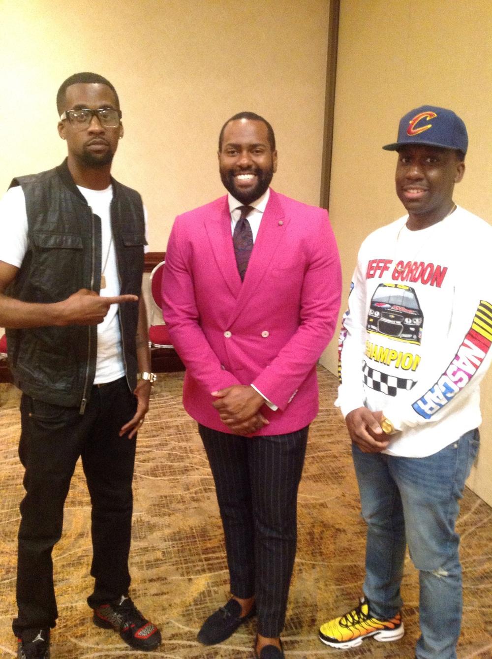 These three guys were high school classmates! #BirminghamNatives