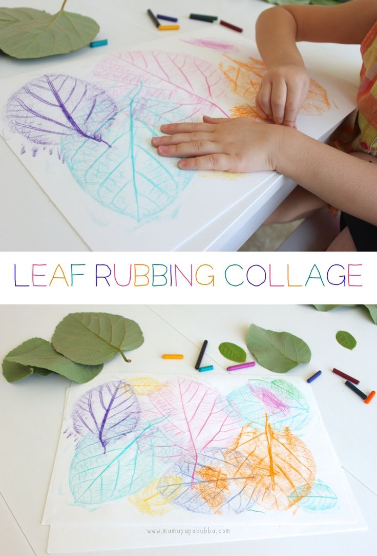 And the all time favorite leaf rubbing collage!