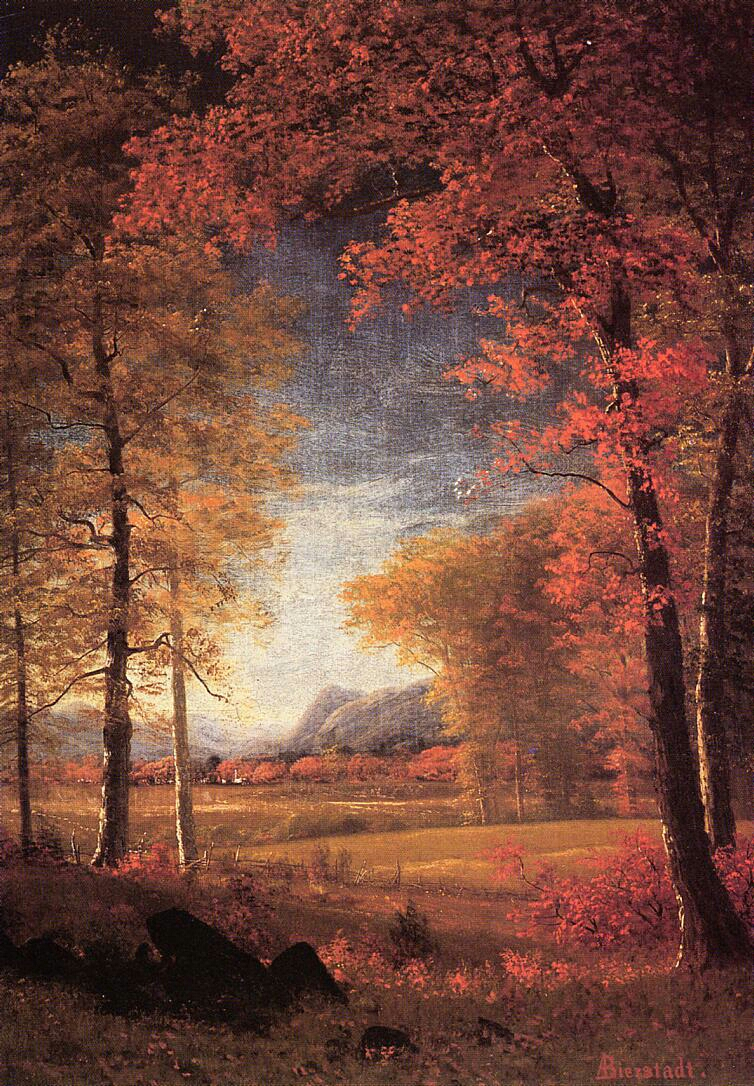"""Autumn in America Oneida County New York"" by Albert Bierstadt"
