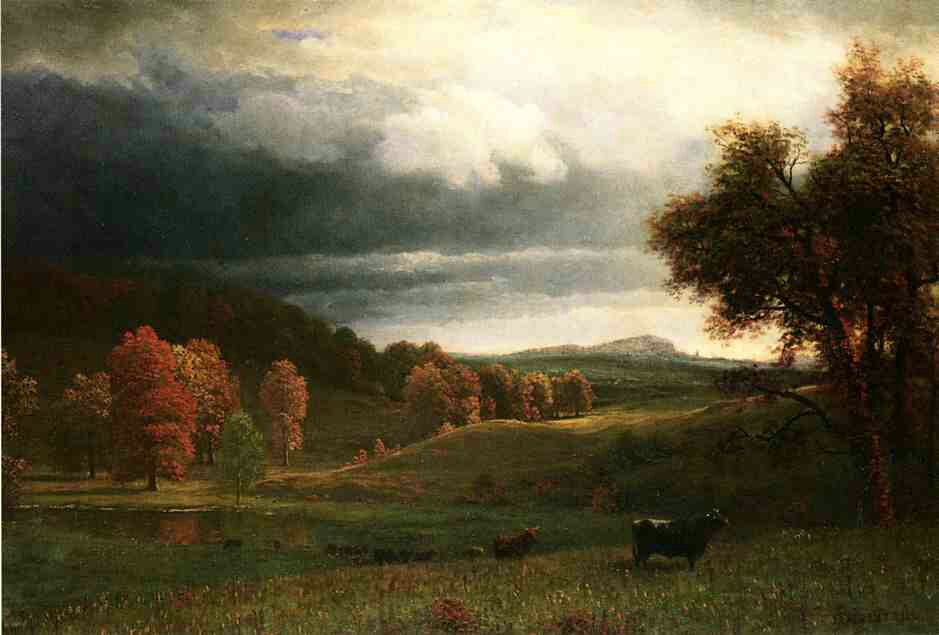 """Autumn Landscape: The Catskills"" by Albert Bierstadt"
