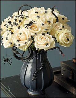 Flower Centerpieces with Fake Spiders.jpg