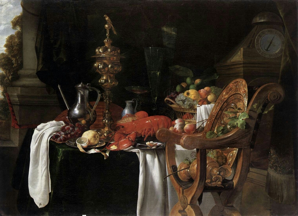 still life by: Jan Davidsz De Heem