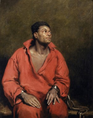 John Philip Simpson The Captive Slave 1827  Painting of African American slave during the abolitionist movement in Great Britain.