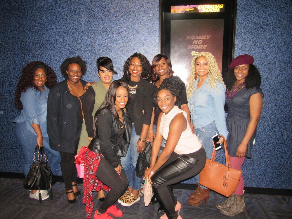 Left to Right: V. Monet, Ariel Worthy, Christina Renteria, Me, Christina Krause, Shawna, Joell Regal, Natesha Speight and Rachel Simone.