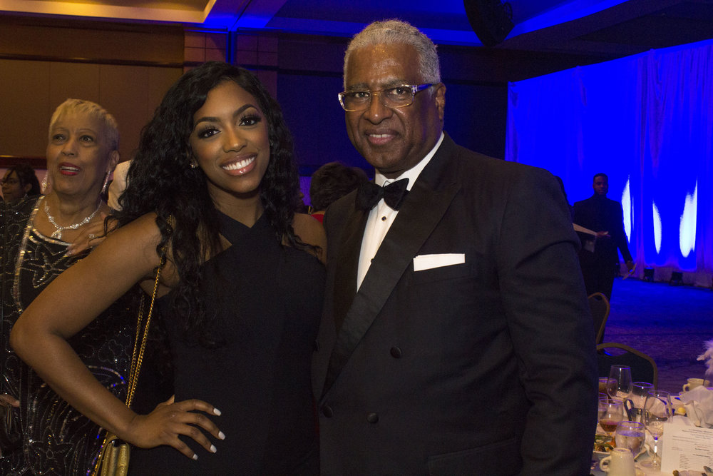 Porsha Williams of Atlanta housewives and Birmingham Mayor William Bell.