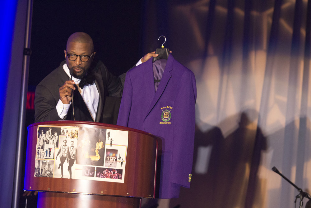 Rickey Smiley gifted with the Omega Psi Phi Blazer of Achievement