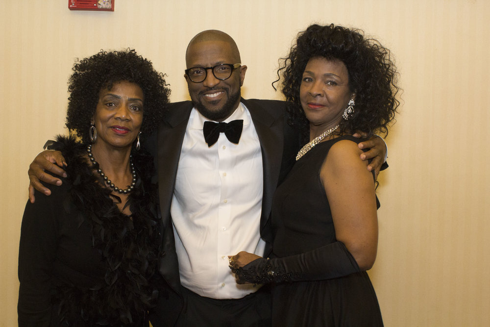 Board member Sadie McElroy, Rickey Smiley and Sandra Pratt