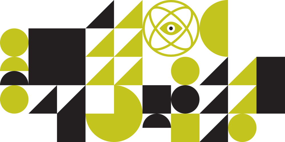 One of several geometric patterns created for slides and other visual filler.