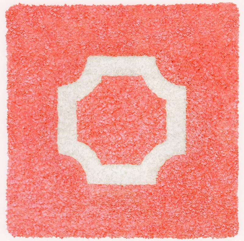 Bologna (Pink)  (Bolongna Rosa), 2009 relief object with Japanese paper