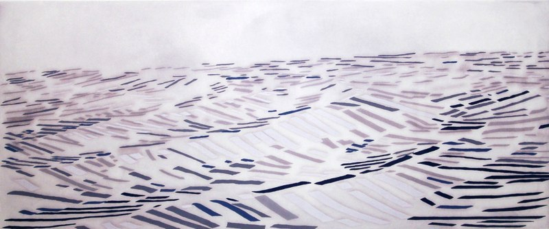 "Long Water   , 2006   woodcut, lithograph, etching (6/30)   26   1/4  "" x 46"""