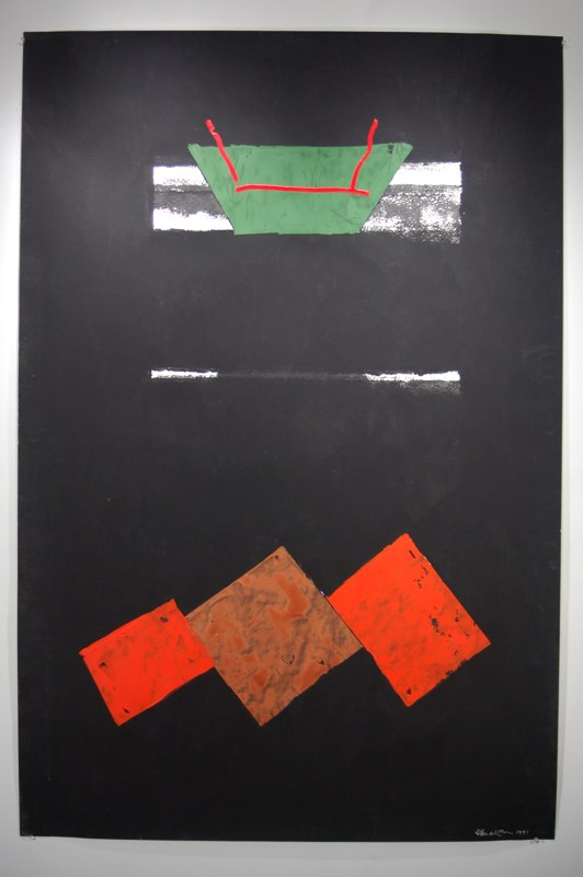 "Untitled    ,  1991   acrylic on paper   59   3/4  "" x 40"""
