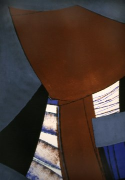 "Untitled III, 1992 acrylic on canvas 72"" x 48"""