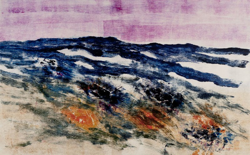 "Grand Mesa II, 2011 monotype on Rives BFK 18 1/4"" x 29 1/2"""