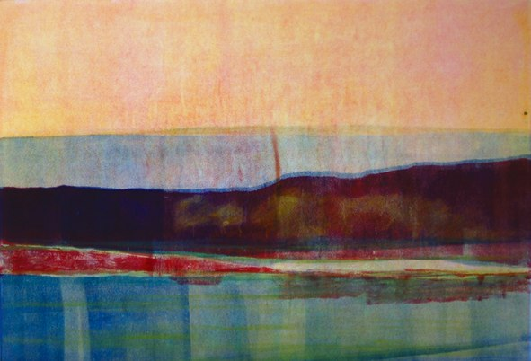 "Low Country V ,   2006   monotype   28   1/8  "" x 35   7/8  """