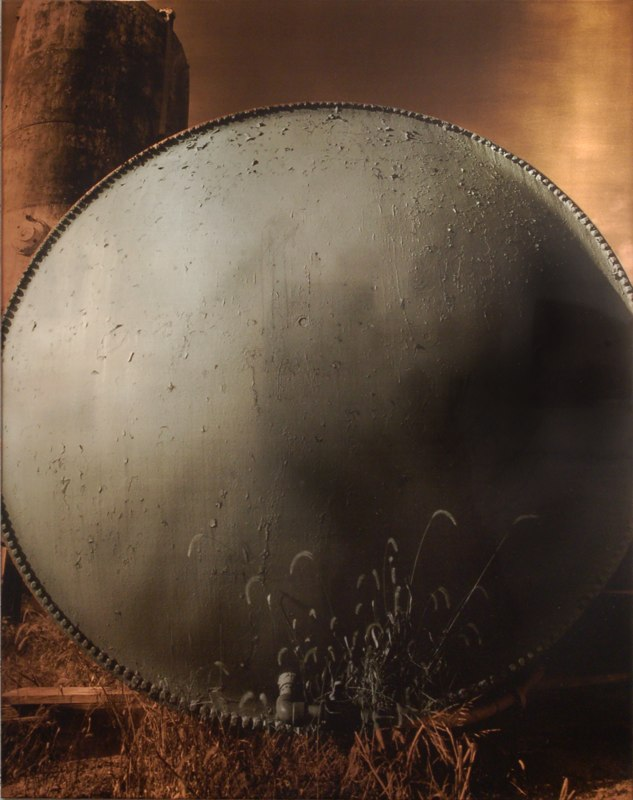 "Moonglow   , 1993   photo emulsion on silver plated copper (1/2)  35"" x 28"""