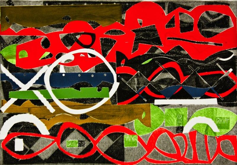"""#2, 2011  mono print  25 3/16"""" x 33 1/8"""""""