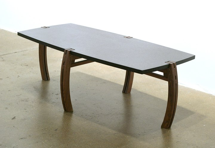 "Java Table    environ, walnut and cherry woods  17"" x 50"" x 26"""