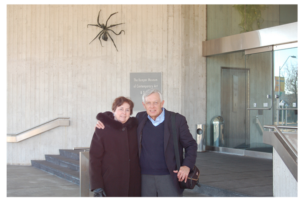Carolyn Miles, Owner and Director, with husband Joe at the Kemper for the delivery of the Willem de Looper painting