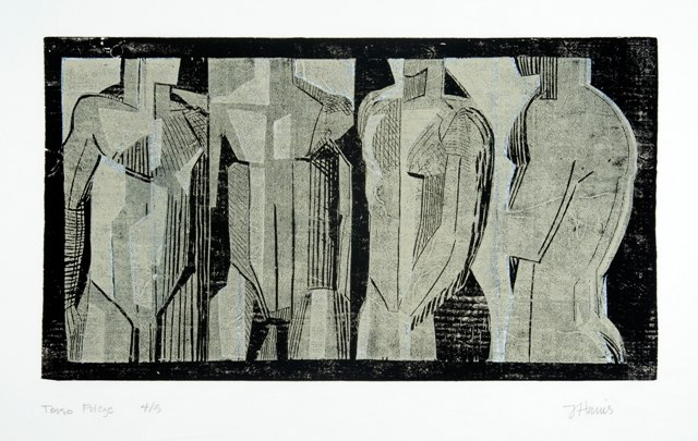 "Torso Frieze    ,  2005   woodcut (4/5)   22"" x 26   1/2  """
