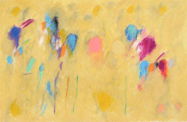 "Fredrick Nelson  ""Sentinel Souls,"" 2011  pastel on rag paper  41"" x 61"""