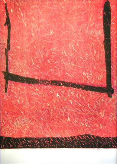 """Swing,"" 2012 2/2  woodcut print  43 1/4"" x 31 3/8"""