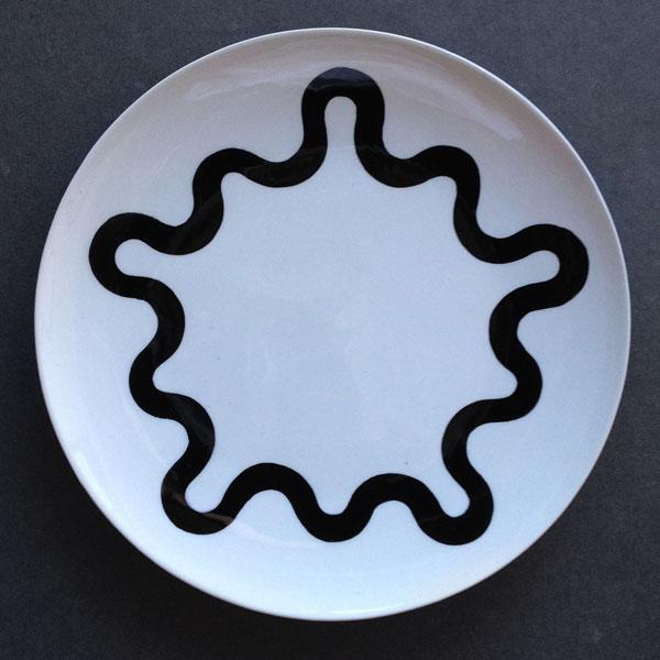 """9, 2013 ceramic 10 7/8"""" diameter"""
