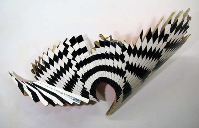 "New Venture Piece #30  , 2012  enamel on hard maple  36"" x 67"" x 11 3/4"""