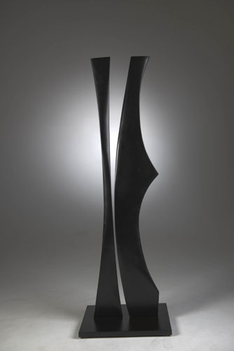 "Geometric Tango  , 2009  paperstone  73 1/2"" x 24"" x 18"""