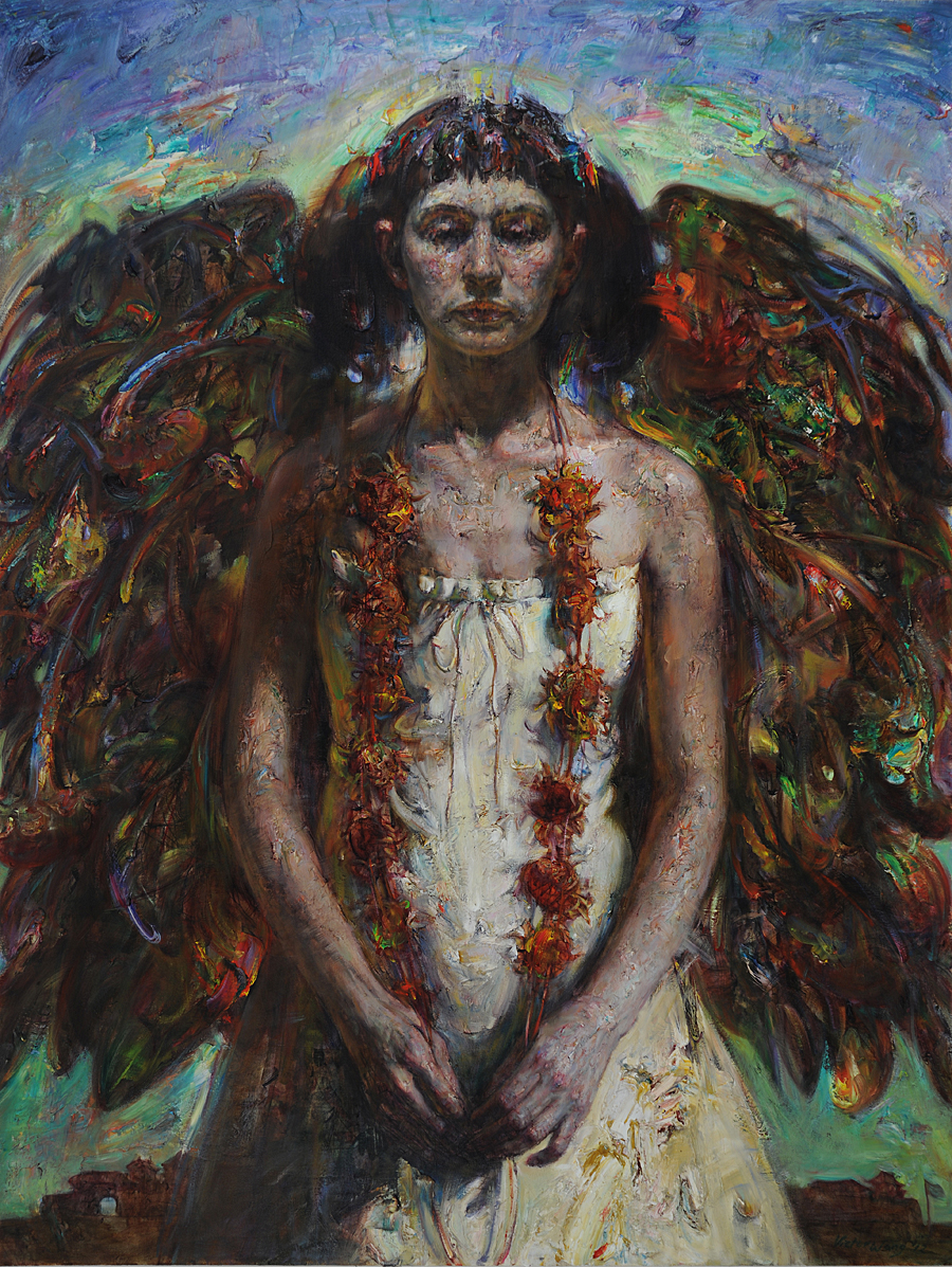 "The Wings  , 2012  oil on canvas  63 1/4"" x 48 1/8"""