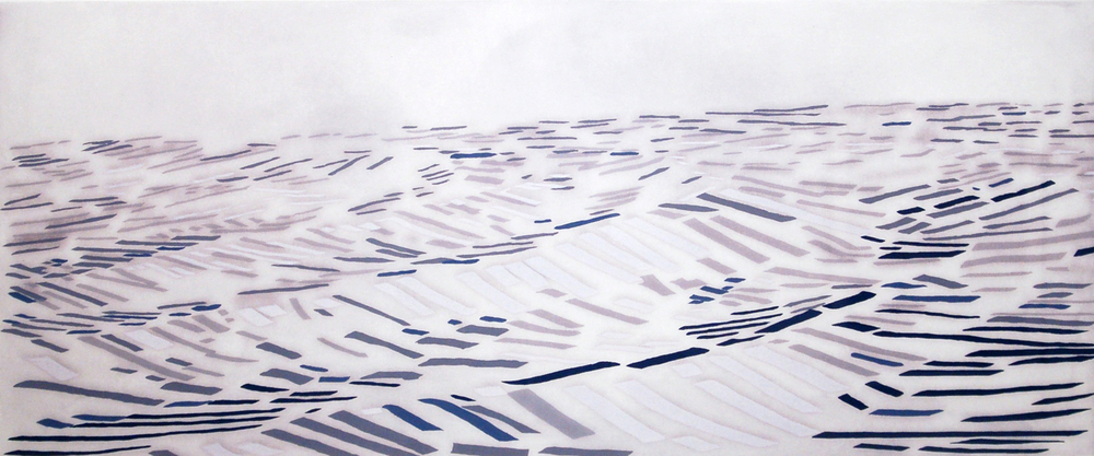 "Suzanne Caporael Long Water, 2006 woodcut, lithography, etching, 6/30 25"" x 45"""